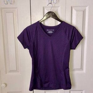 Tek Gear Purple Polyester Activewear Top Medium
